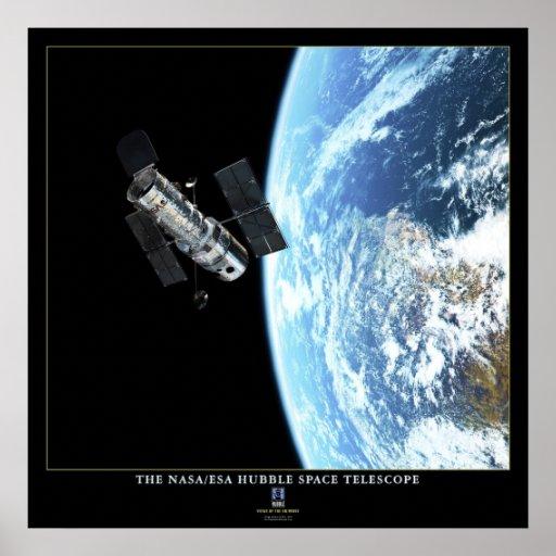 The Hubble Space Telescope in Orbit Poster