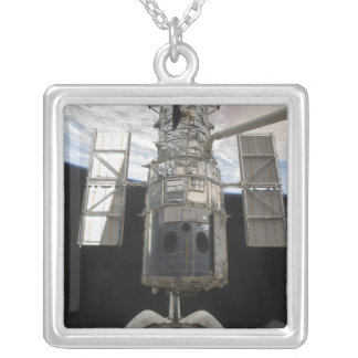 The Hubble Space Telescope is released Square Pendant Necklace