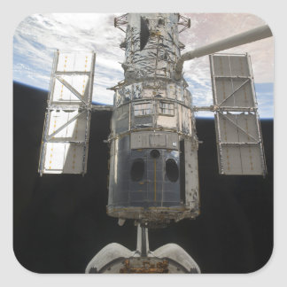 The Hubble Space Telescope is released Square Sticker