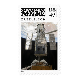 The Hubble Space Telescope is released Stamp