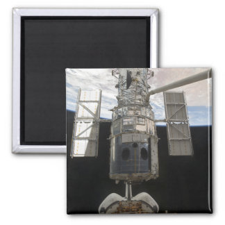 The Hubble Space Telescope Space Shuttle Atlant 2 Inch Square Magnet