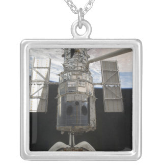The Hubble Space Telescope Space Shuttle Atlant Silver Plated Necklace
