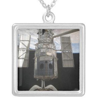 The Hubble Space Telescope Space Shuttle Atlant Square Pendant Necklace