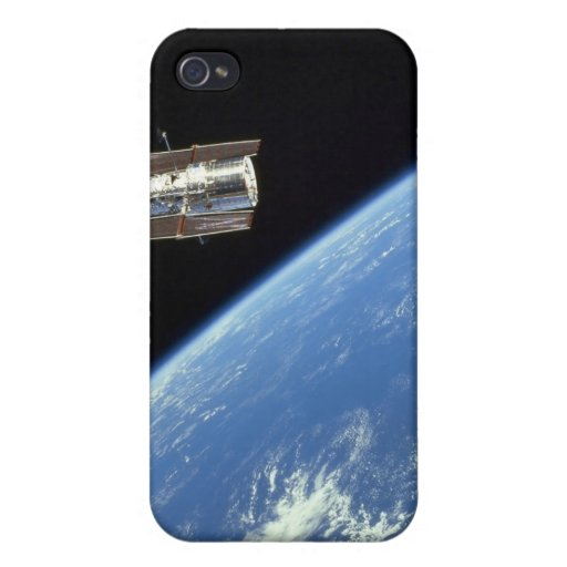 The Hubble Space Telescope with a blue earth Cover For iPhone 4