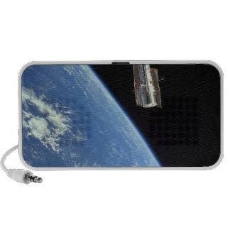 The Hubble Space Telescope with a blue earth Notebook Speakers