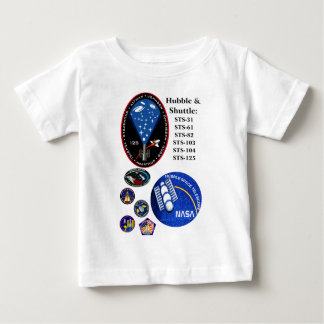 The Hubble Telescope and the Shuttle Baby T-Shirt