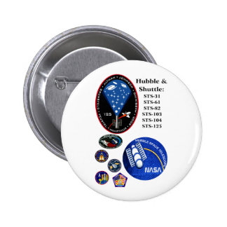 The Hubble Telescope and the Shuttle Pinback Button
