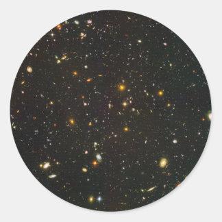 The Hubble Ultra Deep Field Classic Round Sticker