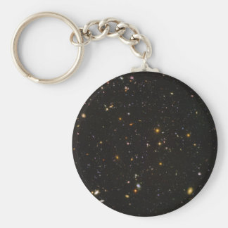 The Hubble Ultra Deep Field Space Image Basic Round Button Keychain