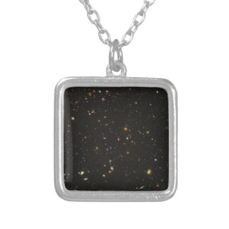 The Hubble Ultra Deep Field Space Image Silver Plated Necklace