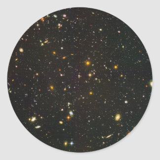The Hubble Ultra Deep Field Classic Round Sticker