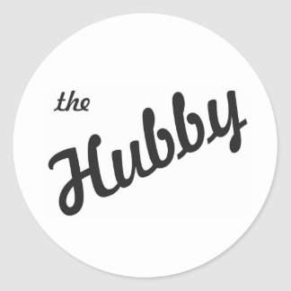 The Hubby Classic Round Sticker