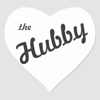 The Hubby Heart Sticker