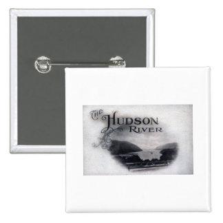 The Hudson River, New York, 1921 Vintage Pinback Button