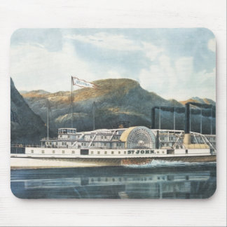 The Hudson River Steamboat `St. John' Mouse Pad