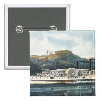 The Hudson River Steamboat `St. John' Pinback Button