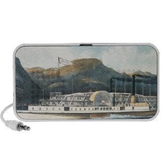 The Hudson River Steamboat `St. John' Portable Speaker