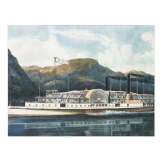 The Hudson River Steamboat `St. John' Postcard