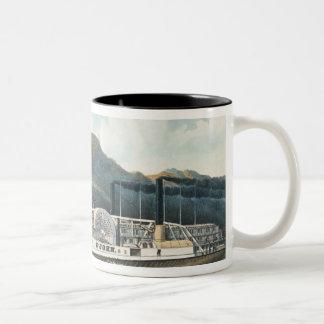 The Hudson River Steamboat `St. John' Two-Tone Coffee Mug