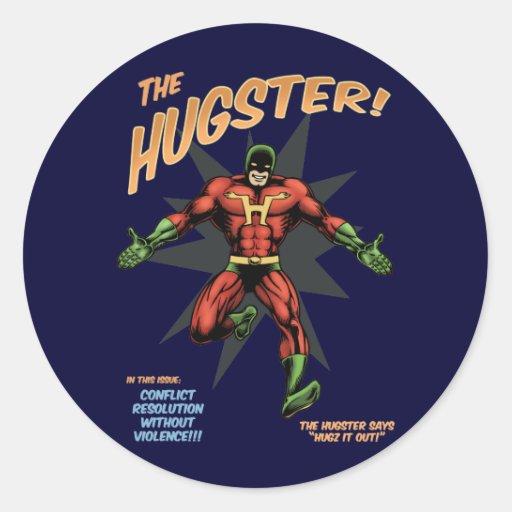 The Hugster Round Sticker
