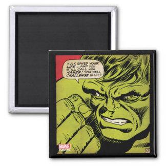 "The Hulk ""Challenge"" Comic Panel 2 Inch Square Magnet"
