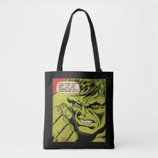 """The Hulk """"Challenge"""" Comic Panel Tote Bag"""