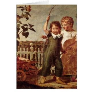 The Hulsenbeck Children By Philipp Otto Runge Greeting Card