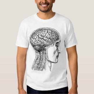 The Human Brain - Antique Engraving Tee Shirt
