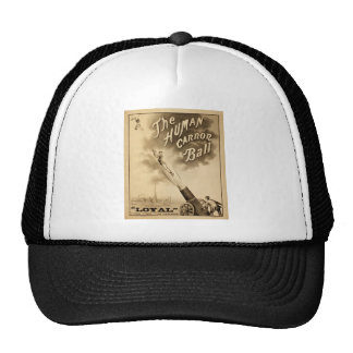 The Human Cannon Ball Vintage Circus Act Victorian Trucker Hat