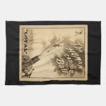 The Human Cannon Ball Vintage Circus Act Victorian Kitchen Towel