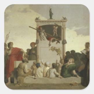 The Human Comedy, c.1852 Square Sticker