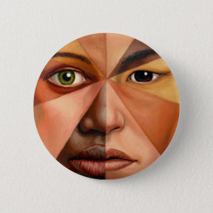 The Human Face Pinback Button