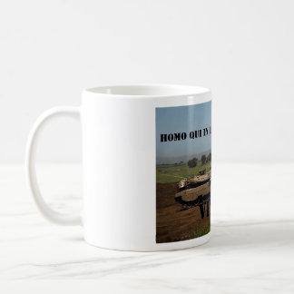 The human inside the tank will win - Latin Classic White Coffee Mug