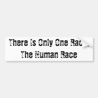 The Human Race Bumper Sticker Car Bumper Sticker