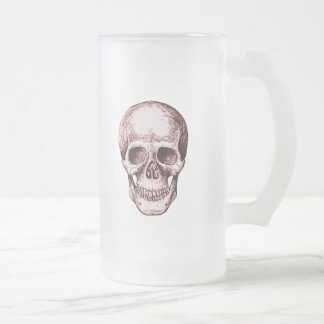 The human skull frosted glass beer mug