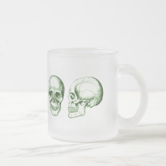 The human skull. frosted glass coffee mug