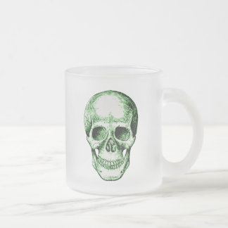 The human skull frosted glass coffee mug
