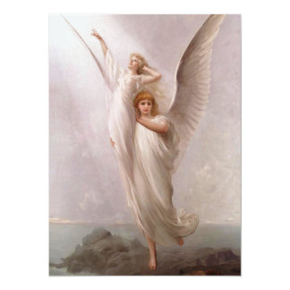 The Human Soul ~ (angel / angels) ~ 5.5x7.5 Paper Invitation Card