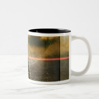 The human spine Two-Tone coffee mug