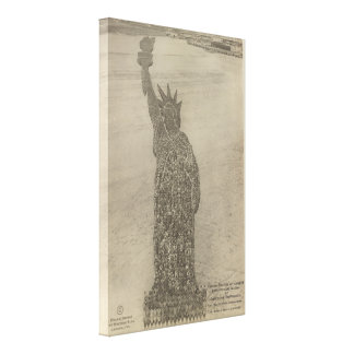 The Human Statue of Liberty at Camp Dodge Print