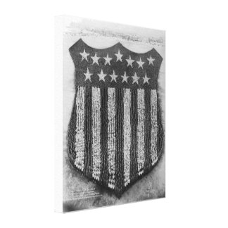 The Human U S Shield at Camp Fort Custer Print Canvas Prints