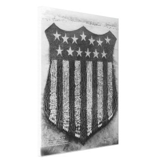 The Human U S Shield at Camp Fort Custer Print Stretched Canvas Print