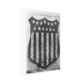 The Human U S Shield at Camp Fort Custer Print Stretched Canvas Prints