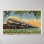 The Humming Bird Railroad Train Poster