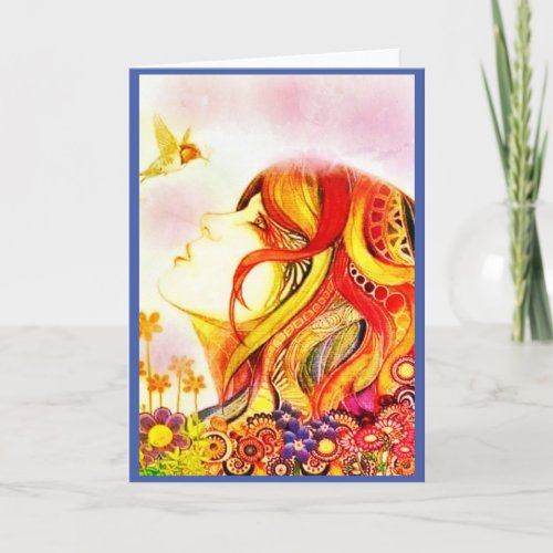 The Hummingbird Hippie All Occasion Greeting Card