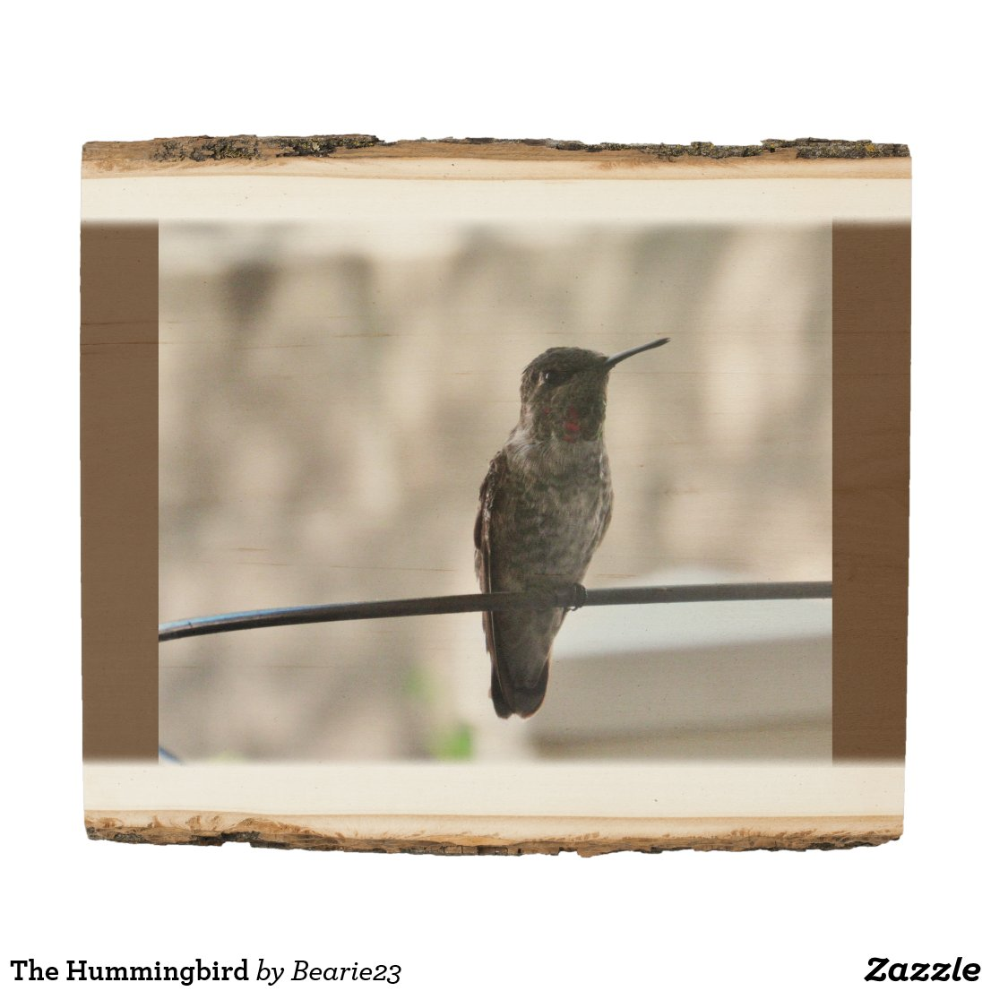 The Hummingbird Wood Panel