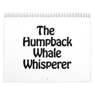 the humpback whale whisperer calendar