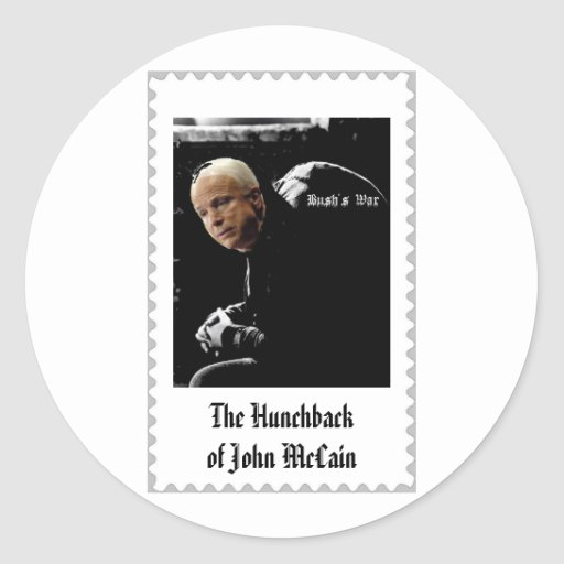 The Hunchback of John Mcain. Almost a stamp Stickers