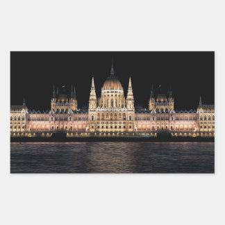 The Hungarian Parliament Building, Budapest Rectangular Sticker