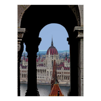 """The Hungarian Parliaments """"in the Frame""""! Poster"""